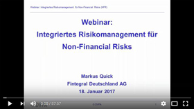 Webinar Integriertes Risikomanagement von Non-Financial Risks